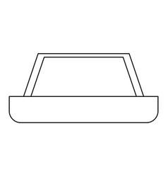 Carpet black color icon vector