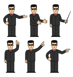 Cartoon bodyguard vector