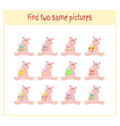 Cartoon of finding two exactly vector