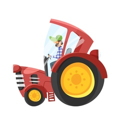 cartoon of tractor-driver vector image