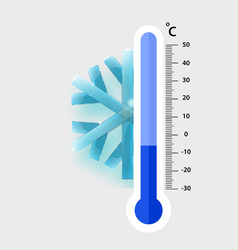 celsius meteorology thermometers measuring cold vector image