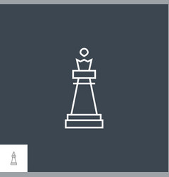 Chess piece queen vector