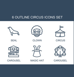 Circus icons vector