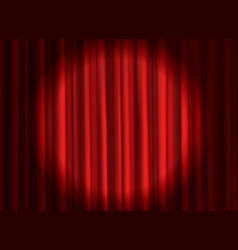 closed red curtain theatrical drapes stage vector image