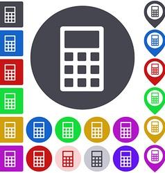 Color calculator icon set vector