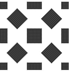 cookie icon seamless pattern pastry sing biscuit vector image
