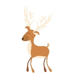 Deer cartoon icon image vector