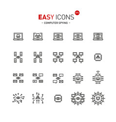 Easy icons 47a computer spying vector