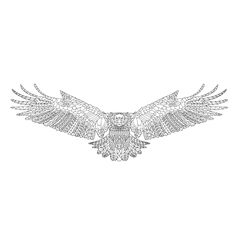 entangle stylized eagle sketch for coloring page vector image