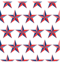 Five-pointed stars pattern on white background vector