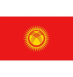 Flag of Kyrgyzstan vector image
