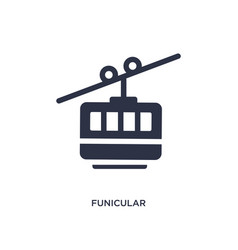 Funicular icon on white background simple element vector