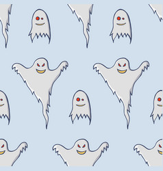 ghosts seamless pattern vector image