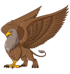 griffin on white vector image