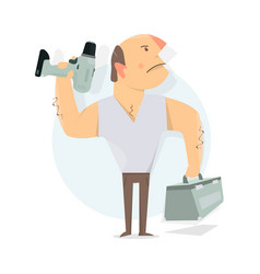 handyman service to call a repairman worker man vector image