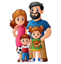 Happy family cartoon vector