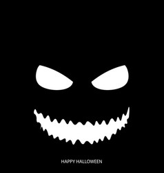 happy halloween mask background vector image