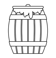 Honey keg icon outline style vector