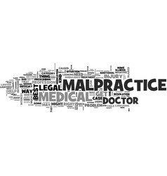 Is it worth it to file a malpractice claim text vector