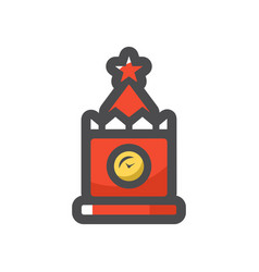 kremlin spasskaya tower in moscow icon vector image