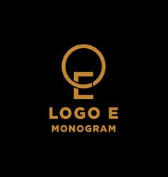 Luxury initial e logo design icon element isolated vector