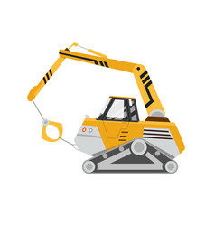 machine for destruction buildings yellow vector image