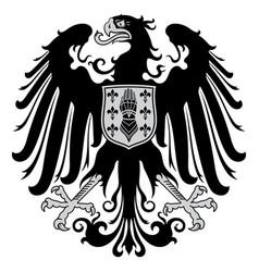 medieval heraldic emblem design heraldic eagle vector image