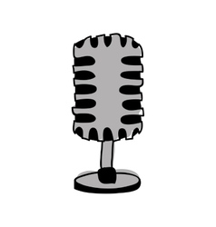 microphone drawing icon image vector image