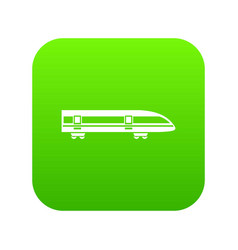 modern high speed train icon digital green vector image