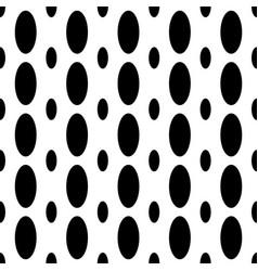 Monochrome seamless geometrical ellipse pattern - vector