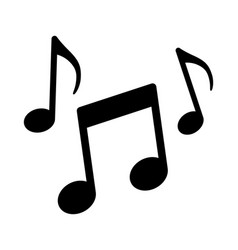 Music notes song melody or tune icon vector