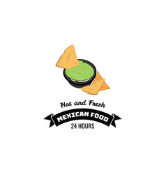 nachos mexico food traditional mexican cuisine an vector image