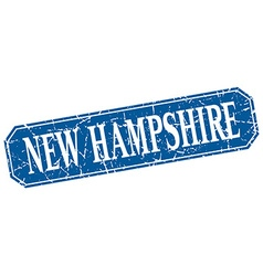 New Hampshire blue square grunge retro style sign vector