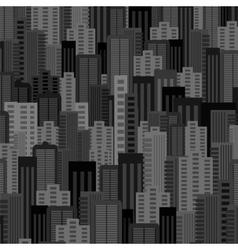Night City Background Urban Landscape vector image