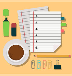 notebook agenda business note plan work vector image