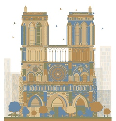Notre Dame Cathedral - Paris vector image