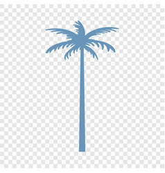 palm tree icon simple style vector image