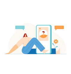 people video chatting concept modern character vector image