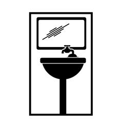 Pictogram bathroom icon vector