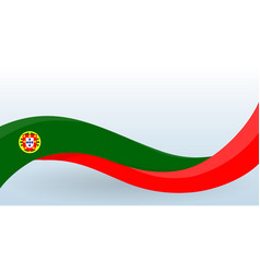 portugal national flag portuguese unusual design vector image