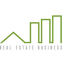 real estate business simple icon design template vector image
