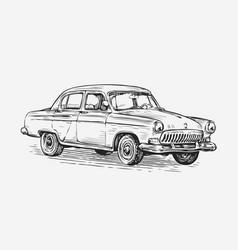 retro car automotive concept vector image