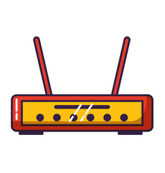 router internet on white background vector image