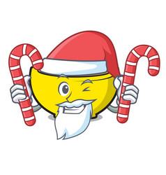 Santa with candy soup union mascot cartoon vector
