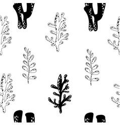 scandinavian style seamless pattern vector image