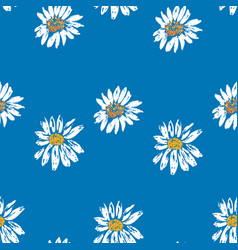 Seamless pattern sketches inflorescences of vector