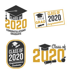 Set class 2020 badges concept for vector
