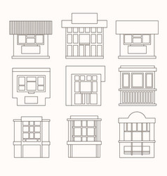 Set of cartoon flat stalls and kiosks isolated on vector