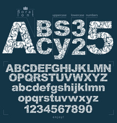 Set of ornate letters and numbers vector