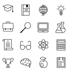 Set of web icons education and learning vector